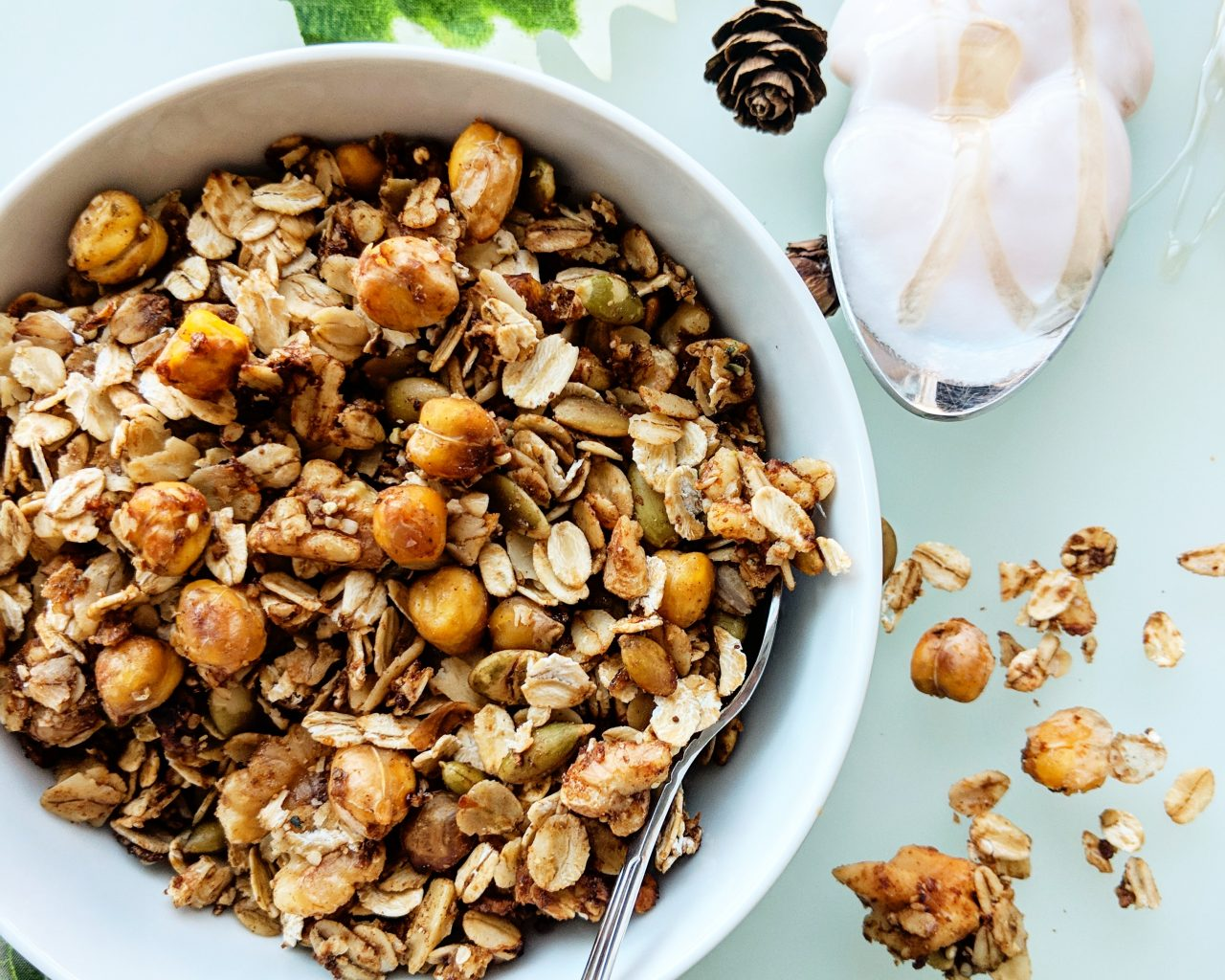 Sweet Chickpea Granola Mother May I Bake